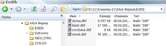как загрузить классификатор адресов в 1с 7.7 зик